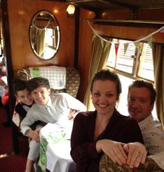 El, Lou, Jay & Jay's boyfriend on the Orient Express today <3- Lou and El! Ah, so cute!