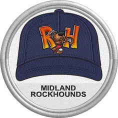 Midland Rockhounds hat - baseball cap - MiLB - Texas League - Minor League Baseball - Texas - Created by John Majka