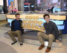 Cameron Dallas and Nash Grier on Good Morning America