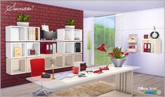 Sims 4 CC's - The Best: Office Time clutter set by SIMcredible!