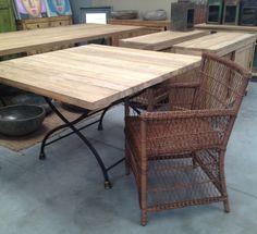 Tavolo giardino ferro/teak