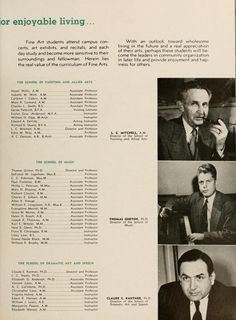 Athena Yearbook, 1949. Claude E. Kantner, PhD, bottom picture, was the Director of the School of Dramatic Arts and Speech, and was an Associate Dean of the College of Communication. :: Ohio University Archives