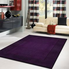 Rug Factory Transition Solid Indoor Area Rug Blue/Violet, Size: 8 x 11 ft. Cheap Living Room Rugs, Living Room Area Rugs, Formal Living Rooms, Cheap Large Area Rugs, Cheap Rugs, Purple Carpet, Transitional Area Rugs, Big Rugs, 8x10 Area Rugs