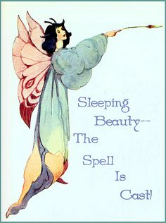 Vintage Sleeping Beauty Illustration--Fairy