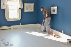 DIY Painted Plywood Subfloor