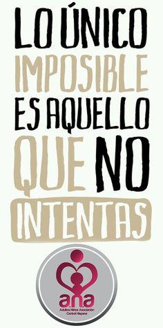 nada es imposible, no te dejes vencer