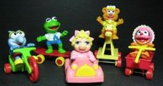 Muppet Baby happy meal toys.  I tried so hard to get the baby Miss Piggie, but never did.