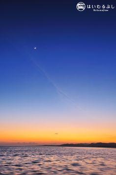 昨日まで夏日和だった八重山。素晴らしい夕陽も眺めることができました。  夕陽が沈んだ後の夕景も美しかったのでご紹介します。