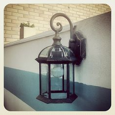 #garden #lamp #brother #home #light #navy #blue #iron #plant #decoration - @ritzdesousa- #webstagram