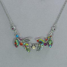 Firefly Botanic Leaf Necklace - Multicolor
