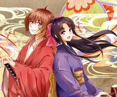 Image about cute in Couple Anime by ❁Elz Meow❁ Kenshin Y Kaoru, Kenshin Anime, Samurai, Anime Flower, Monster Games, Anime Couples, Find Image, Gaming, Marriage