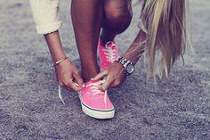 pink shoes #vans