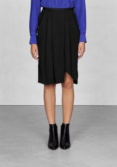 & Other Stories Asymmetric knee-length skirt