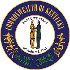 Seal of Kentucky -    United we stand, divided we fall   Deo gratiam habeamus   Let us be grateful to God