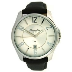 Kenneth Cole New York Leather Collection Silver Dial Men's watch #KC1707 Kenneth Cole. $63.75. Black Leather Strap. Date. Save 25%!