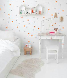 GWIAZDKI NAKLEJKI NA ŚCIANĘ 181SZT 3CM - Dekoracjan - Naklejki na ścianę dla dzieci