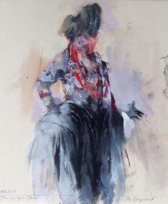 Confidant - Elektra. John Macfarlane Costumes, Gallery, Drawings, Painting, Art, Theater, Art Background, Dress Up Clothes, Roof Rack