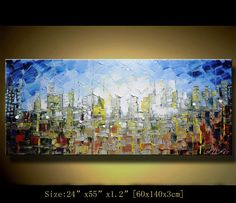 art painting landscape Original Abstract Painting, Modern Textured Painting,Palette Knife, Home Decor, Painting Oil on Canvas  by Chen n081 $298