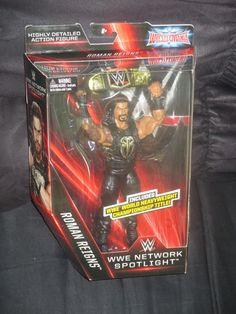 Roman Reigns WWE Network Spotlight Wrestlemania Mattel Elite Figure-NIB VHTF  #Mattel