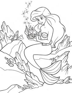 384 Best Ariel Coloring Pages Images On Pinterest Coloring Pages