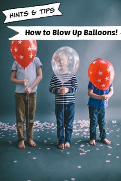 Blowing Up Balloons - Hints & Tips on How To Best Fill Your Party Balloons Balloon Hacks, Blowing Up Balloons, Love Balloon, What To Use, Pretty Little, Birthday Parties, Party Ideas, Learning, Tips