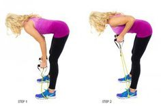 Bent Over Rows Resistance Band