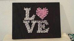 Love - Valentines Day - My valentine - Anniversary - Girlfriend gift - gift idea - I love you - Love decor - Gift - String Art