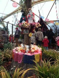 Day of the dead table decoration at Eden project