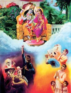 Bhagavad Gita: Four kinds of poius men surrender to Krishna, and four kinds of impious men do not.