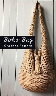 Boho Bag Crochet Pattern | knitting and crochet | crochet tutorial | crochet projects #Ad