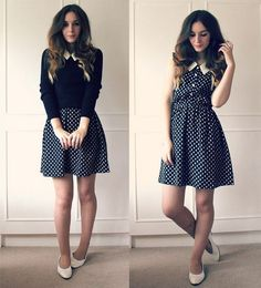 I love the idea of wearing a shirt over a dress. It's like adding a brand new skirt to your closet!