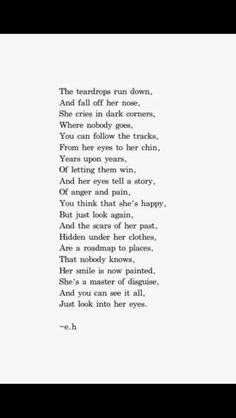 The tear drops...