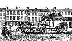 An Eighteenth-Century Stagecoach |Source: Webster, Hutton Modern European History (Boston, MA: D.C. Heath & CO., 1920)