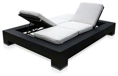 Outdoor Duo Convertible Lounger Outdoor Convertible lounger modern outdoor chaise lounges