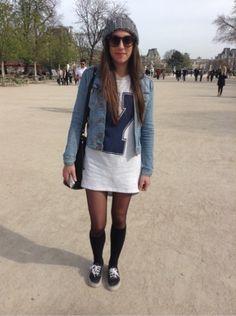 H&M Robe -  ASOS Bonnet, chapka  #women #mode #look #streetstyle http://www.moodlook.com/look/2014-03-19-france-paris-2