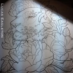 Lioness and peony …