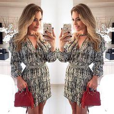 ! Look da noite vestido lindooo da Juliana Jabour para a @lezalez  _ _ #geamericano