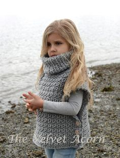 Crochet Patterns Clothes (Crochet) Aura Pullover by Heidi May - The Velvet Acorn Poncho Au Crochet, Pull Crochet, Crochet Girls, Crochet For Kids, Knit Crochet, Crochet Pullover Pattern, Crochet Sweaters, Knitting Projects, Crochet Projects