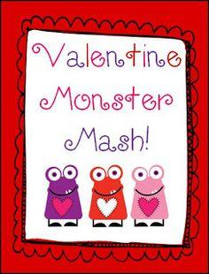 The Art of Teaching: A Kindergarten Blog: Valentine Monster Mash FREEBIE!!!