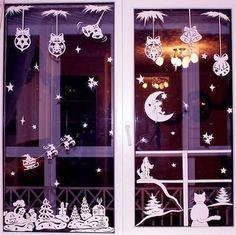 Christmas Window Stickers Templates