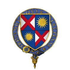 Coat of arms of Sir John Gage (1479-1556) [16], father of Alice Gage, 1st Wife of Sir Anthony Browne (ca1500-1548).