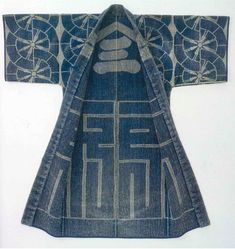 Hanten and happi : traditional japanese sashiko work coats : bold designs and colorful images by Cynthia Shaver Japanese Textiles, Japanese Fabric, Japanese Kimono, Japanese Coat, Japanese Geisha, Kimono Fashion, Boho Fashion, Womens Fashion, Fashion Design