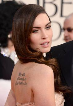 Megan Fox's Tattoos