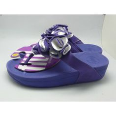 26e7eb74867 New Womens Fitflop Frou Flower Sandal Blue Clearance