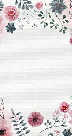 Wallpaper Stickers, Computer Wallpaper, Wallpaper Backgrounds, Iphone Wallpaper, We Heart It Wallpaper, Watercolor Wallpaper, Wall Drawing, Flower Invitation, Backrounds