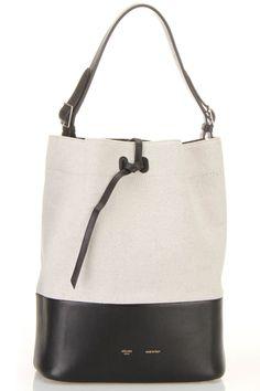 Celine Small Drawstring Shoulder Bag In Cream