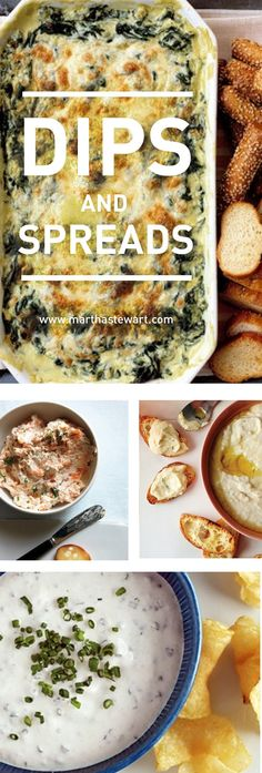 Get your chips and crackers ready for our best party dip and spread recipes, including hot spinach dip, chicken liver pate, cheese balls, and more.