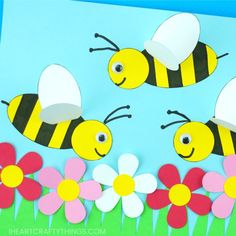 How to Make a Paper Bee Craft | I Heart Crafty Things