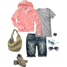 Casual walk through the park, created by susieschwartz on Polyvore