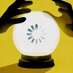 Wired U.K. - Predictable Future © Benedetto Cristofani, all right reserved #illustration #editorial #editorialillustration #conceptual #technology #wired #future #conceptualillustration #graphic #graphicdesign www.benedettocristofani.net